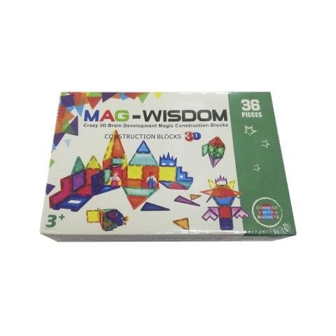 Bloques 3D Mag-Wisdom. Juego de 36 piezas. Juguetes