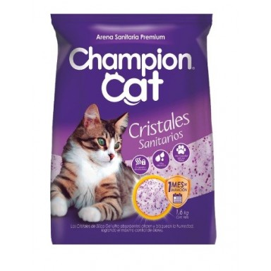 Cristales Sanitarios para Gatos 1,6Kgrs. Champion Cat