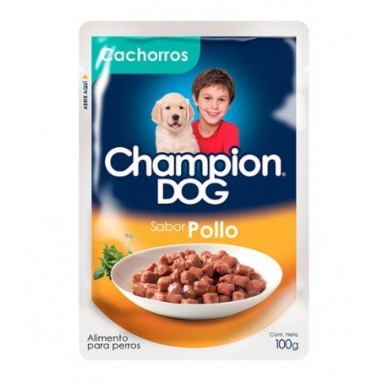 Alimento para Perros. Champion Dog Pouch P&P 24x100 grs