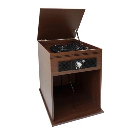 Tocadisco vintage con base de madera Tocadiscos y Tornamesas