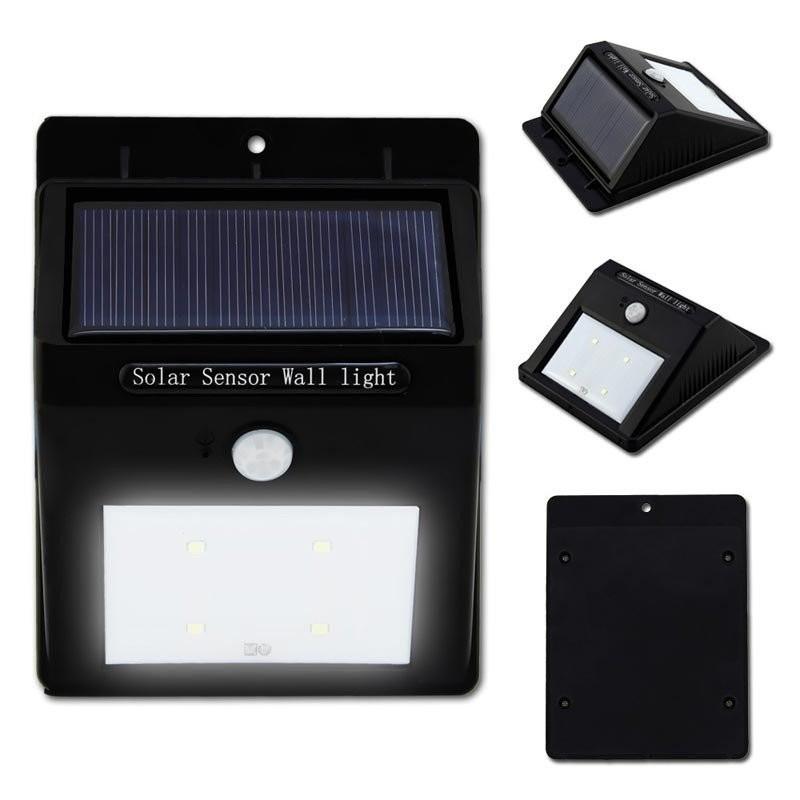 Foco solar led con sensor movimiento - Focos led solares ...