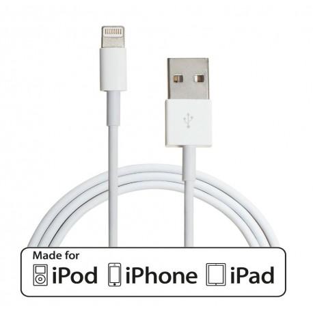 Cable Lightning certificado para Apple de 1 o 2 Metros