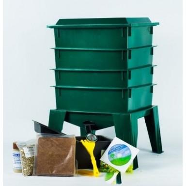 Compostera 4 Niveles. Incluye Tierra de Hoja