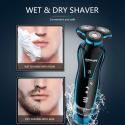 TINTON LIFE Maquinilla de Afeitar Electrónica Lavable Recargable para Hombres Máquina de Afeitar Electrónica de Barbas Afeita...