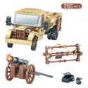 Camiones del Ejército Avión de bloques de construcción de aire conjunto militar WW2 coche vehículo arma de soldados DIY ladri...