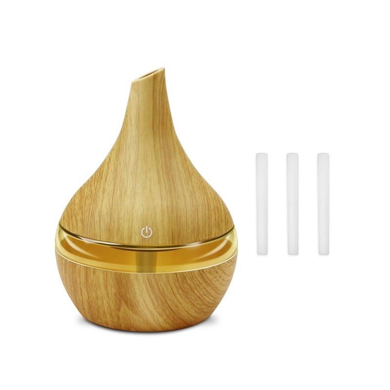 Difusor de Aire de Aroma eléctrico USB de 250 ml humidificador de aire ultrasónico de madera aceite esencial aromaterapia fab...