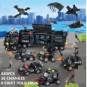 820 Uds. Niños regalos de navidad ladrillos policía Robot SWAT camión transformación educación Juguetes de bloques de constru...