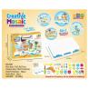 Juguetes de rompecabezas Montessori de plástico para niños, rompecabezas de educación DIY, diseño de mosaico, regalo para niños