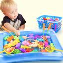 Juego de 14 unids/set de juguetes interactivos magnéticos de pesca para padres e hijos, 1 caña, 1 red, 12 peces en 3D, juguet...