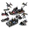 8 Uds./lote 695 Uds., policía de la ciudad, bloques de construcción de camiones SWAT, juego de LegoINGs para vehículos de barco,