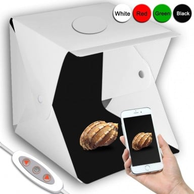 2 LED caja de luz plegable 40*40 portátil fotografía estudio Softbox brillo ajustable caja de luz para cámara DSLR