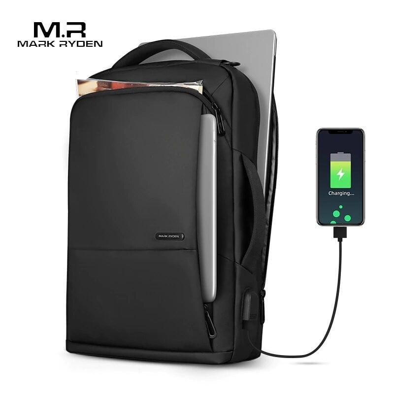 Mochila de viaje para MARK RYDEN, Mochila para adolescentes de gran capacidad, bolsa antiladrones con carga USB, Mochila para...