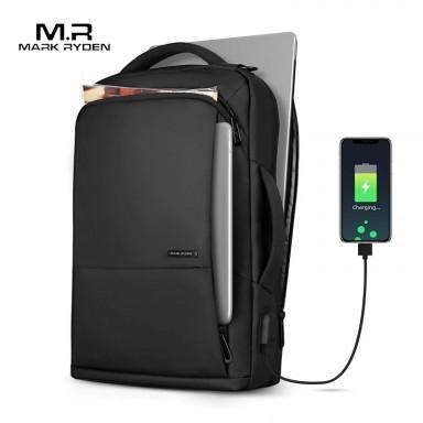 Mochila de viaje para MARK RYDEN, Mochila para adolescentes de gran capacidad, bolsa antiladrones con carga USB, Mochila para po