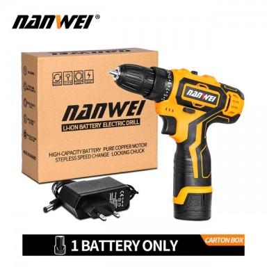Gran oferta 12 V/18 V Litio destornillador inalámbrico/batería Mini taladro eléctrico