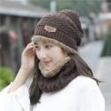 Gorro de punto de invierno para mujer con Opcion a Cuello + Gorro Inicio