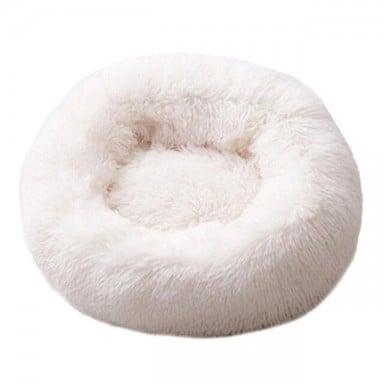 Cama para perro supersuave, redonda, lavable, larga, Perrera de felpa, esterillas de terciopelo para casa de gato, sofá para per