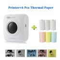 Impresora térmica Portátil con Bluetooth, Mini impresora térmica de bolsillo para iOS, Android, Windows, portátil, máquina de...