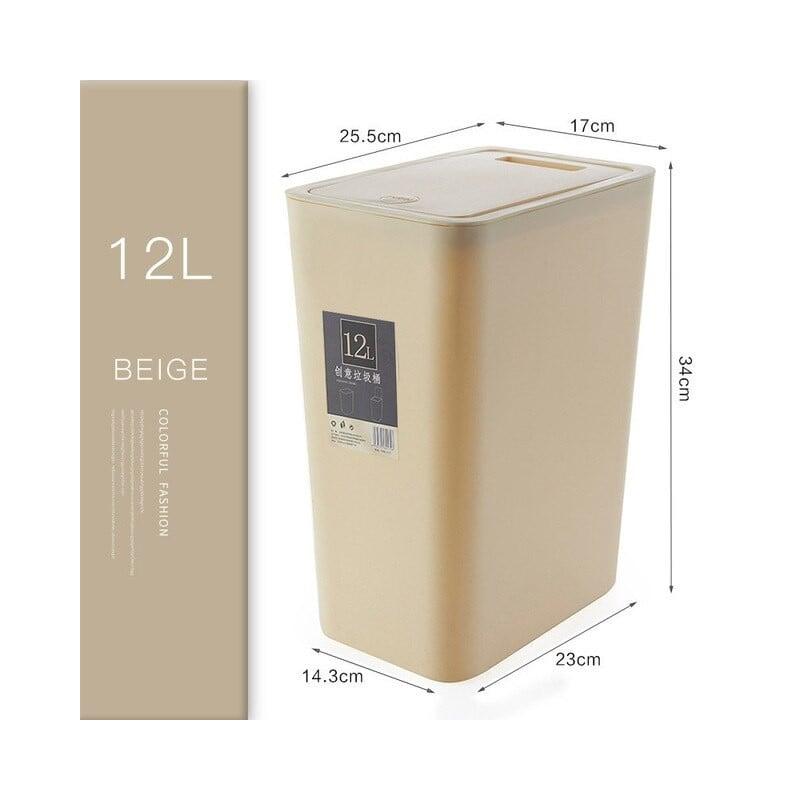 Basura nórdicos cubo de basura de plástico de alta calidad de residuos Bin a casa bote de basura Oficina cubo de basura polvo...