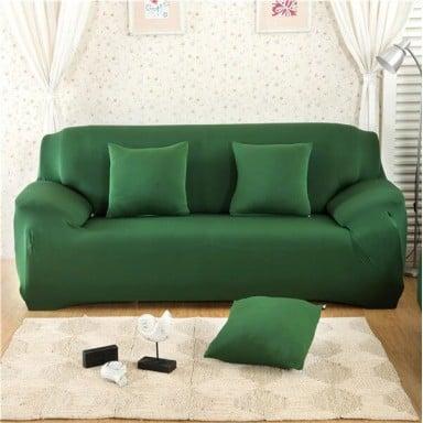 Funda de sofá elástica de Color sólido, funda de sofá de esquina de poliéster moderno de Spandex, Protector de sofá, Protector d