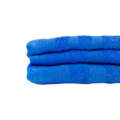 Juego 2 toallas 500 grs 100% algodón Azul