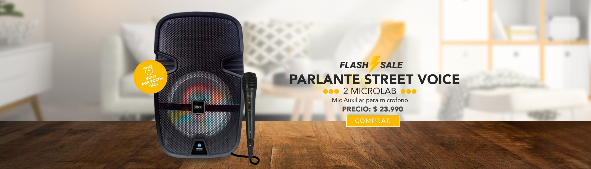 Parlante Street Voice 2 Microlab en El Container